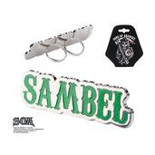 "Green ""SAMBEL"" Adjustable Double Knuckle Ring"