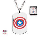 Captain America Logo Dog Tag Pendant with Chain