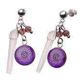 Purple Crown Chakra Arts Earrings