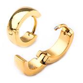9mm/4mm Inox Jewelry Gold IP Huggies Earrings