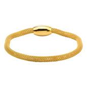 Gold IP Mesh Polish Finished Bracelet