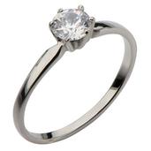Single CZ Engagment Ring