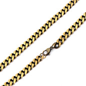 Antique Gold IP Curb Chain Necklace