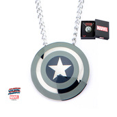 Captain America Grey Shield Pendant with Chain
