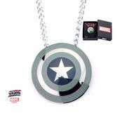 Captain America Grey Shield Pendant with Chain