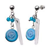 Light Blue Throat Chakra Arts Earrings