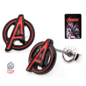 "Avengers ""A"" Logo Cut Out Stud Earrings"