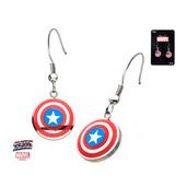 Captain America Shield Color Dangle Earrings