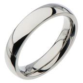 4mm Polished Plain Steel Wedding Band
