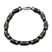 Black IP Motor Chain Design and Lobster Clasp Bracelet