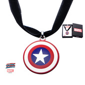Stainless Steel Captain America Shield Choker Necklace