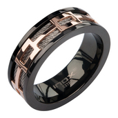 IP Rose Gold Window IP Black Ring