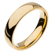 High Polished 5mm Plain Gold Wedding Band