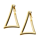 IP Gold Triangle Hoop Earrings