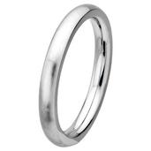 Matte Finish 3mm Wide Plain Cobalt Chrome Ring