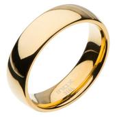 High Polished 6mm Plain Gold Wedding Band