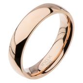 High Polished 5mm Plain Rose Gold Wedding Band