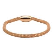 Rose Gold IP Mesh Polish Finished Bracelet