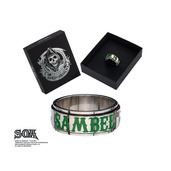 """Spinner Ring with """"SAMBEL"""" and Clover"""