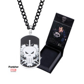 Punisher Skull Dog Tag Pendant with Chain