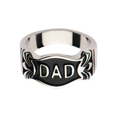 Fancy DAD Engraved Ring