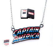 Captain America Lettering Pendant with Chain