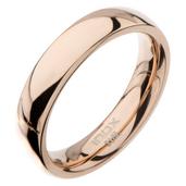 High Polished 4mm Plain Rose Gold Wedding Band