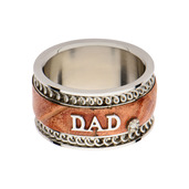 Brown Leather DAD Ring