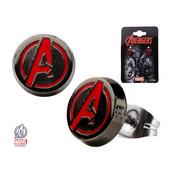 Avengers Logo Round Ear Studs