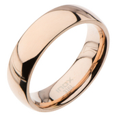 High Polished 6mm Plain Rose Gold Wedding Band