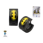 Batman Logo in Yellow Inlay Huggie Earrings