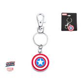 Stainless Steel Captain America Logo Key with Chain
