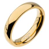 High Polished 4mm Plain Gold Wedding Band
