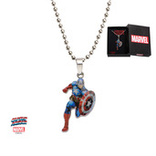 Captain America Cut Out Kids Dog Tag Pendant with Chain