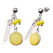 Yellow Solar Plexus Chakra Arts Earrings