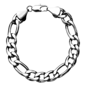 Figaro 11mm Chain Bracelet with Lobster Closure