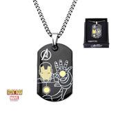 Iron Man Dog Tag Pendant w/ Chain
