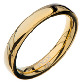 High Polished 3mm Plain Gold Wedding Band