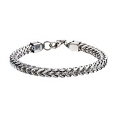 Steel Rounded Franco Chain Bracelet
