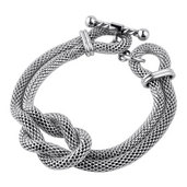 Double Mesh Chain Bracelet with A Hercules Knot
