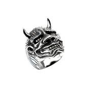 Black Oxidized Hanya Mask Ring