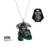 "Green ""SAMBEL"" Pendant with Chain"