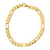 Gold IP Figaro Chain Bracelet with a lobster closure 5.6mm