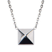 Pyramid Pendant with 18 inch plus 2 inch extender Chain