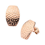 Rose Gold IP Hammered Stud Earrings
