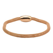 Rose Gold IP Mesh Polish Finished Bracelet
