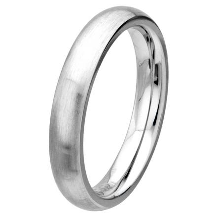 Matte Finish 4mm Wide Plain Cobalt Chrome Ring picture