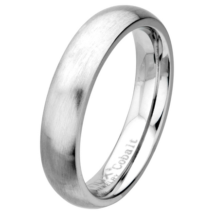 Matte Finish 5mm Wide Plain Cobalt Chrome Ring picture