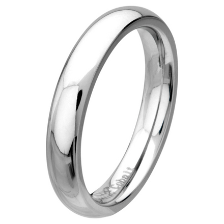 Plain Polished 4mm Wide Cobalt Chrome Ring picture