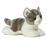 "8"" GREY TABBY CAT - SMALL picture"